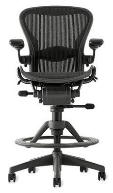 Aeron Work Stool with Lumbar Support