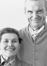 Black and white picture of Charles & Ray Eames