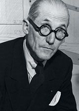 Black and white picture of Le Corbusier