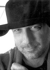 Black and white picture of Ron Arad