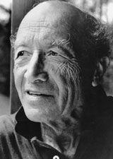 Black and white picture of Isamu Noguchi