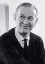 Black and white picture of Alexander Girard