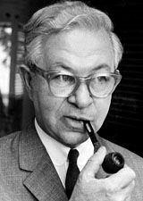 Black and white picture of Arne Jacobsen