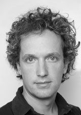 Black and white picture of Yves Behar