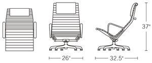H 37; D 32.5; W 26; Seat H 15;