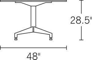 H 28.5; Top 48; diameter