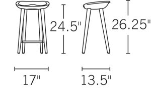 Tractor Counter Stool Ash Design Within Reach