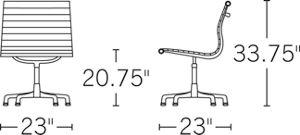 H 31-34; D 23; W 23; Seat H 17-20; Arm H 26-29;