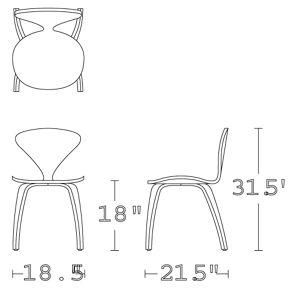 H 31.5; W 18.5; D 21.5; Seat H 18;