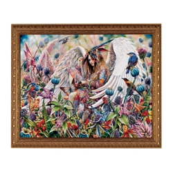 Sanctuary Canvas Art Reproduction - Small - AJ4775 - Design Toscano :  canvas whimsy angel bright