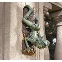 Cleavon, the Mischievous Woodsprite Wall Climber Sculpture