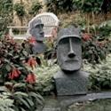 Easter Island Moai Monolith Sculpture - Garden