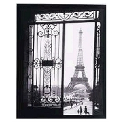 View of Paris Classic Art Reproduction   -Design Toscano :  interior design french print style