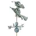 Windblown Witch Signature Copper Weathervane - Polished Copper Finish