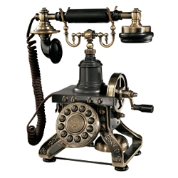 The Eiffel Tower Telephone :  phone brass telephone reproduction