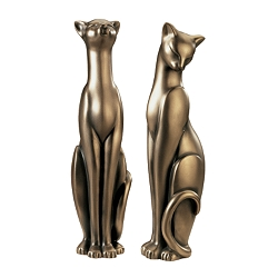 Silk & Satin Feline Sculptures -   By Gabriella Veronese                - Design Toscano :  interior design bronze sculpture statue
