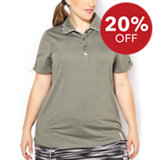 Women's Plus Size Marled Jersey Polo
