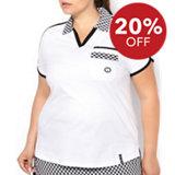 Women's Jersey Short Sleeve Polo With Print Collar