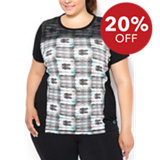 Women's Overlay Printed Mesh Athletic Top
