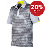 Men's Climachill Geo Striped Short Sleeve Polo