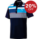 Men's Road Map Asym Short Sleeve Polo