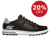 Men's Go Drive Relaxed Fit Spikeless Golf Shoe - BLK/WHT