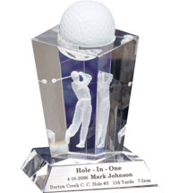 Personalized Crystal Award-Male