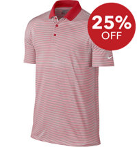 Men's Seasonal Victory Mini Stripe Short Sleeve Polo