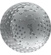 Logo Crystal Golf Ball Award Large