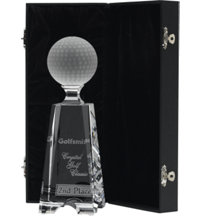 Logo Crystal Golf Ball Tower Award Medium