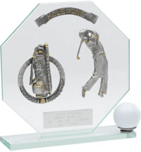 Personalized Male Glass Hole-In-One Award