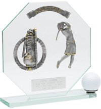 Personalized Female Glass Hole-In-One Award