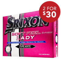 Soft Feel Lady Pure White Golf Balls