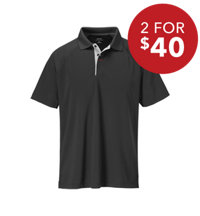 Men's Air Mesh Short Sleeve Polo