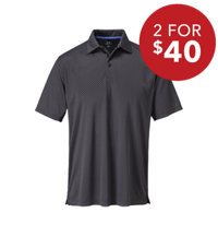 Men's Mini Diamond Print Short Sleeve Polo