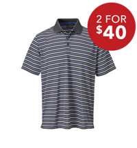 Men's Multi Stripe Short Sleeve Polo