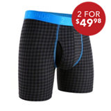 Men's Swing Shift Houndstooth Boxer Briefs