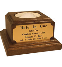 Personalized Desktop Hole-in-One Award