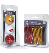 NFL 3 Ball & 50 Tee Pack Gift Set