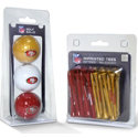 Team Golf NFL 3 Ball & 50 Tee Pack Gift Set