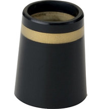 Tapered Iron Ferrule Black/Gold/Black Dozen