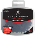 Black Widow Small Metal Thread Spikes - Set of 22