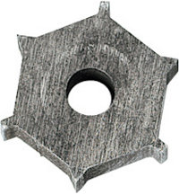 Carbide 6 Point Cutting Blade For Regrooving Tool