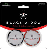 Black Widow Poker Chip Ball Markers