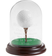 Personalized Glass Dome Hole-In-One Display