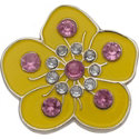 ZTech Yellow Flower Crystal Ball Marker