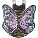 ZTech Purple Butterfly crystal ball marker with cap clip
