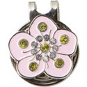 ZTech Pink Flower Crystal Ball Marker with Cap Clip