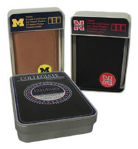 Collegiate Leather Tri-Fold Wallet