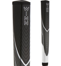 Excel JumboLite Black/Gray/White Pistol Putter Grip (+1/8 Inch)
